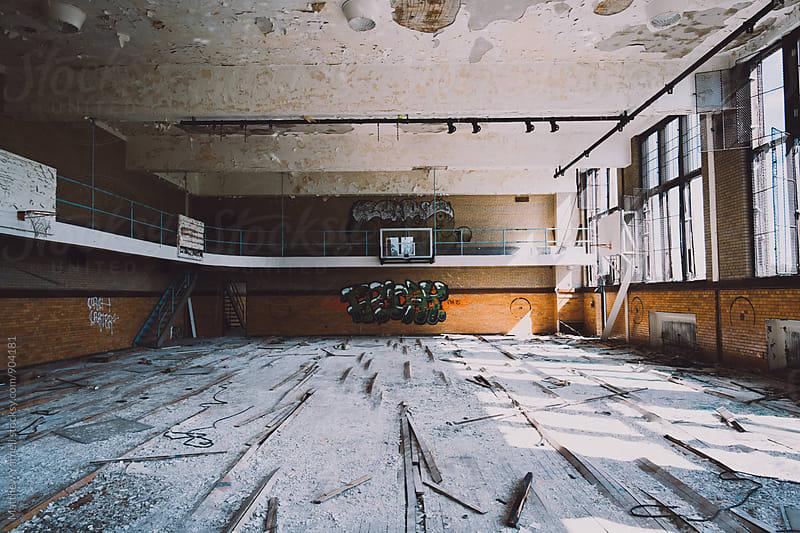 Abandoned School in Detroit by Matthew Yarnell for Stocksy United