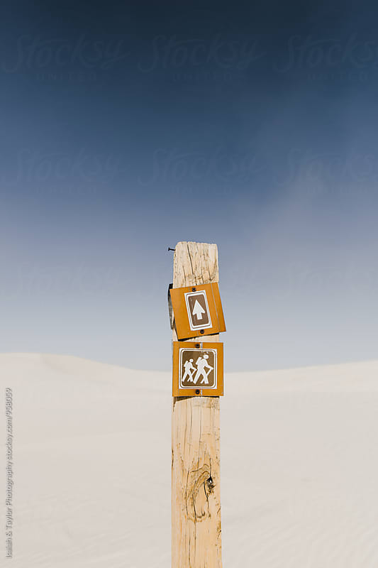 Trail Marker by Isaiah & Taylor Photography for Stocksy United