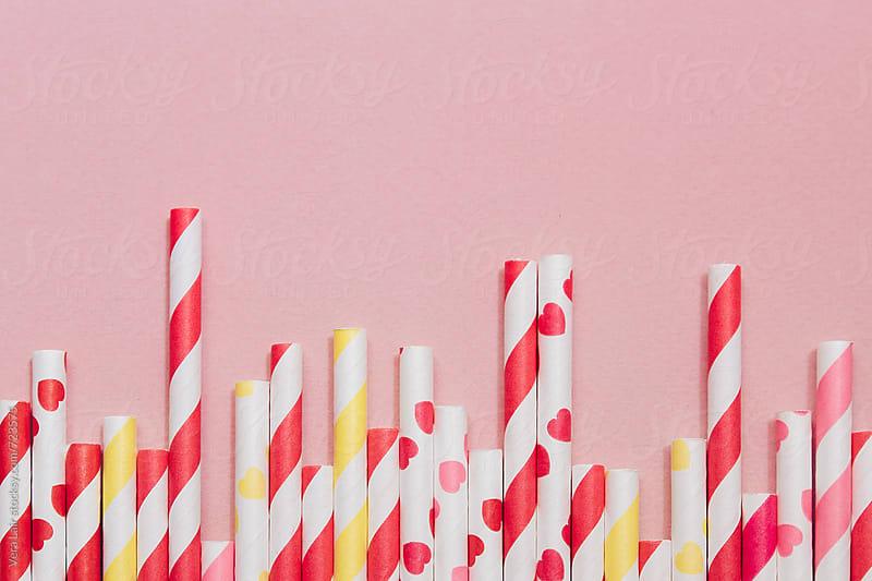 Striped straws by Vera Lair for Stocksy United