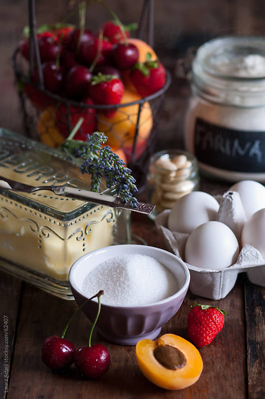 ingredients for a tart by Laura Adani for Stocksy United