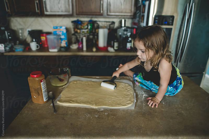 baking with mama  by Courtney Rust for Stocksy United