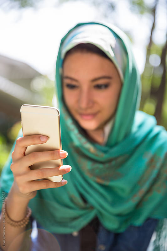 Portrait of a girl wearing hijab by Jovo Jovanovic for Stocksy United