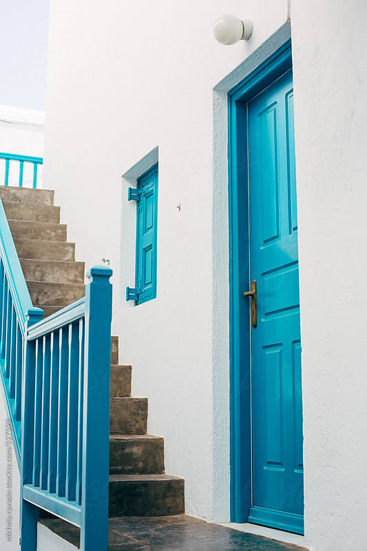 Typical house in Mykonos town by michela ravasio for Stocksy United