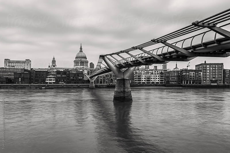 London, England - City Skyline with St Paul's Cathedral and the River Thames by Tom Uhlenberg for Stocksy United