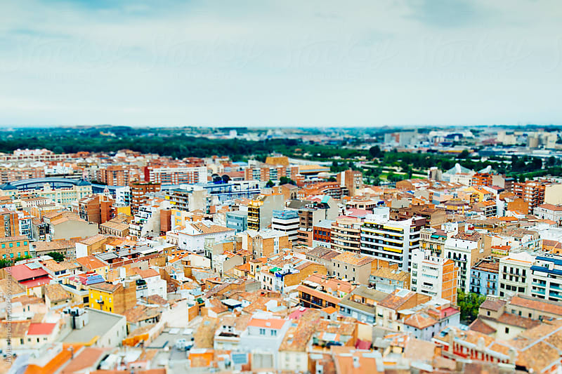 Aerial view of a Mediterranean city by Javier Pardina for Stocksy United