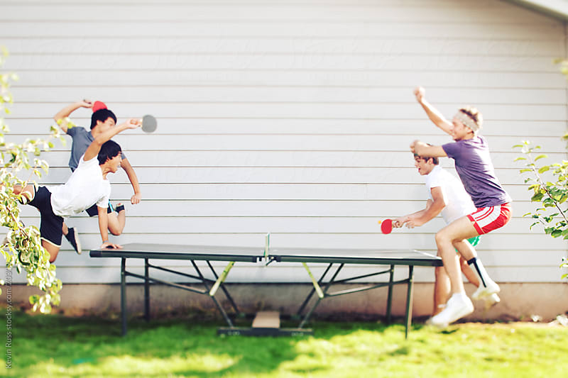 Ping Pong Players by Kevin Russ for Stocksy United