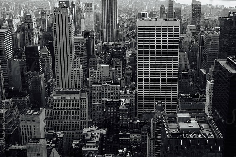 Skyscrapers in New York City view from above by michela ravasio for Stocksy United