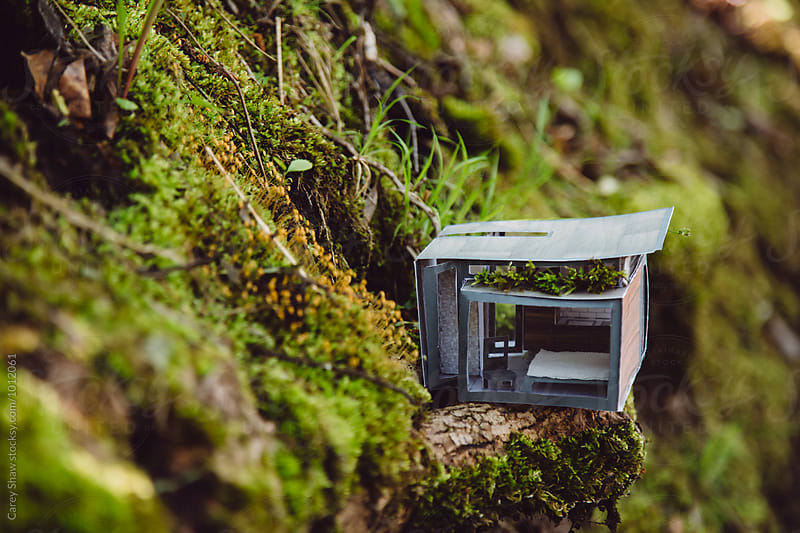 Tiny architectural model of modern home  by Carey Shaw for Stocksy United