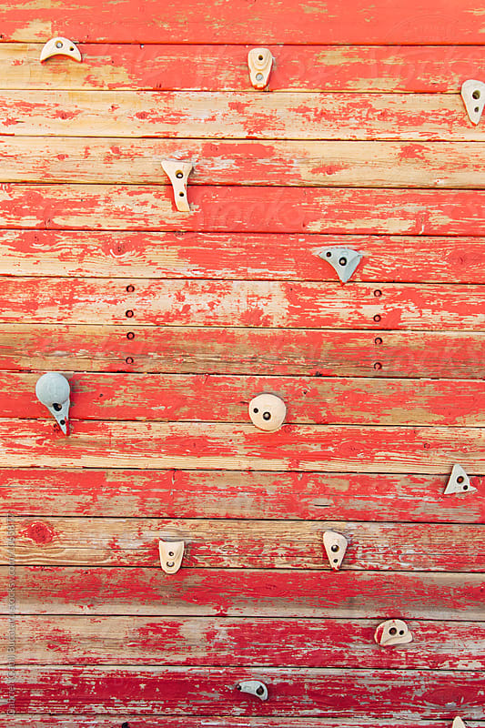 Old climbing wall at a playground by Gabriel (Gabi) Bucataru for Stocksy United