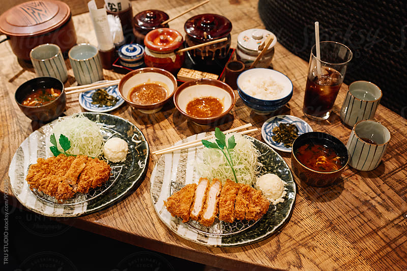 Pork Tonkatsu Dinner by TRU STUDIO for Stocksy United