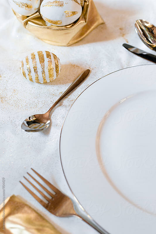 Table seat up for the Easter  by Jovana Milanko for Stocksy United