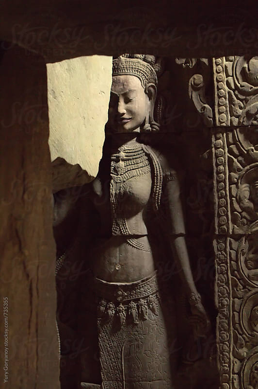 The statue of the goddess. Angkor Wat by Yury Goryanoy for Stocksy United