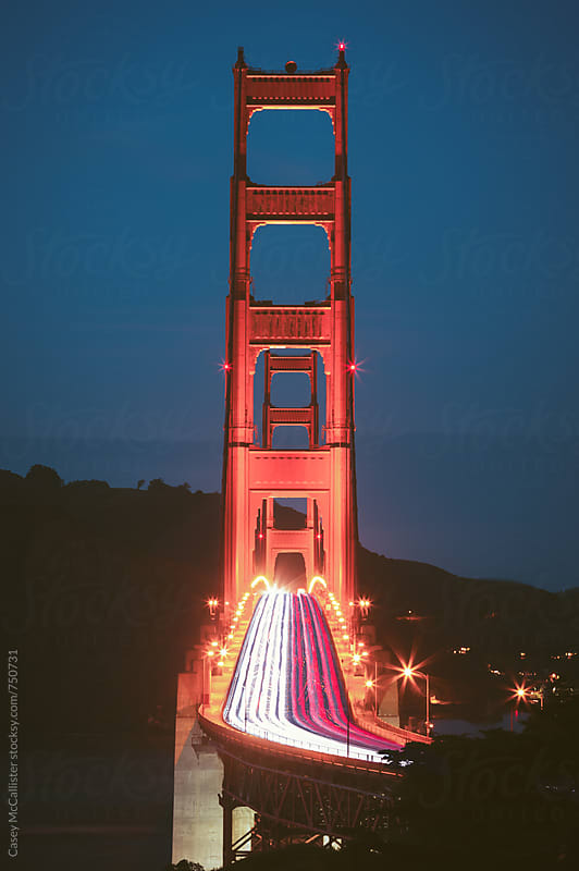 Traffic On the Golden Gate Bridge by Casey McCallister for Stocksy United