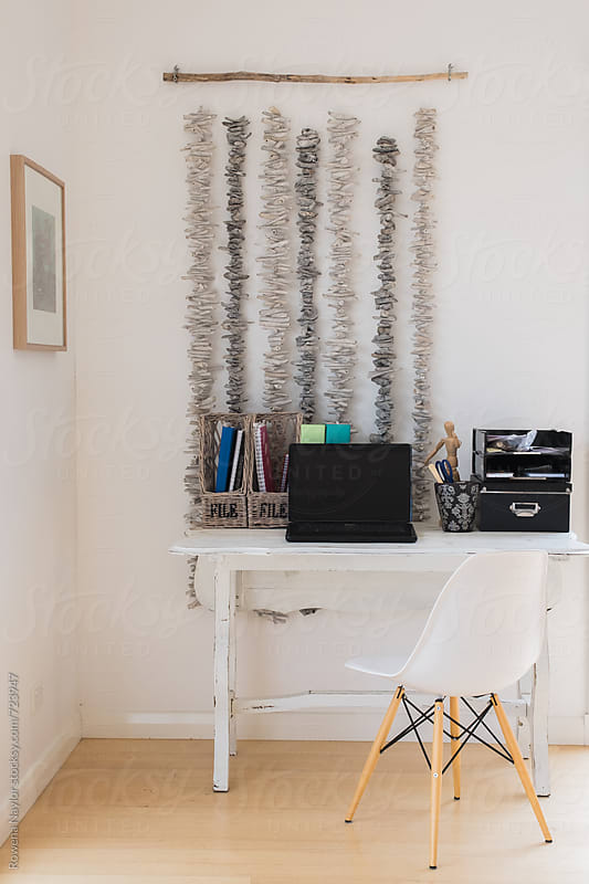Home office workspace by Rowena Naylor for Stocksy United