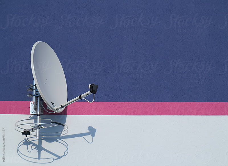 dish satellite wall receiving  by rolfo for Stocksy United