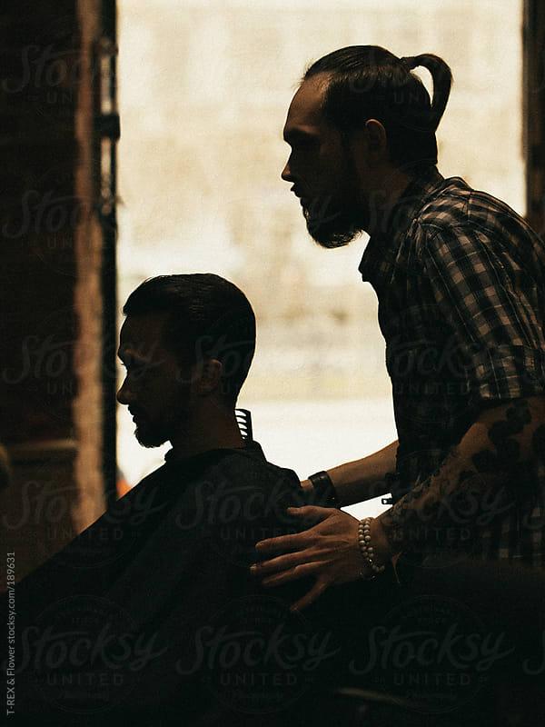 man's hairdresser by T-REX & Flower for Stocksy United