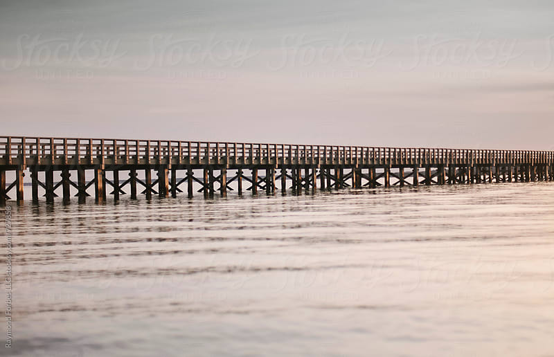 Wooden Bridge on Bay in Massachusetts by Raymond Forbes LLC for Stocksy United