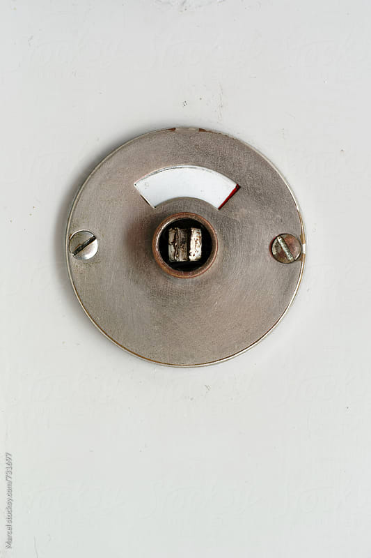 Bathroom lock indicator by Marcel for Stocksy United