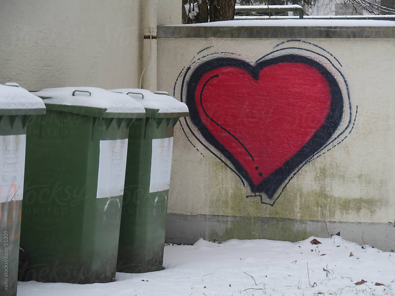 painting heart wall by rolfo for Stocksy United
