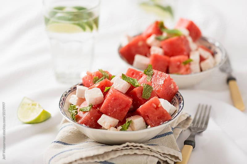Watermelon Feta Salad by Jeff Wasserman for Stocksy United
