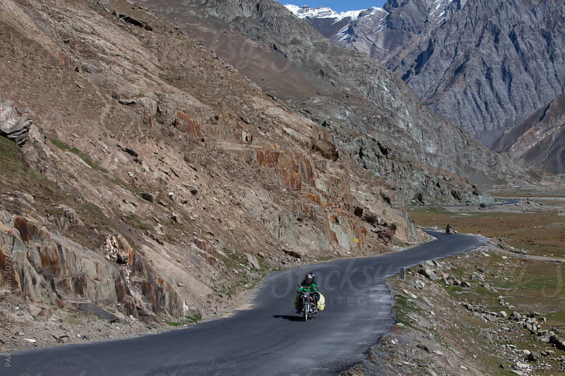 Motor bikers travel in high altitude of Ladakh,India by PARTHA PAL for Stocksy United