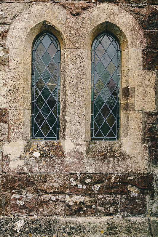 Windows of a one thousand year old british church by kkgas for Stocksy United