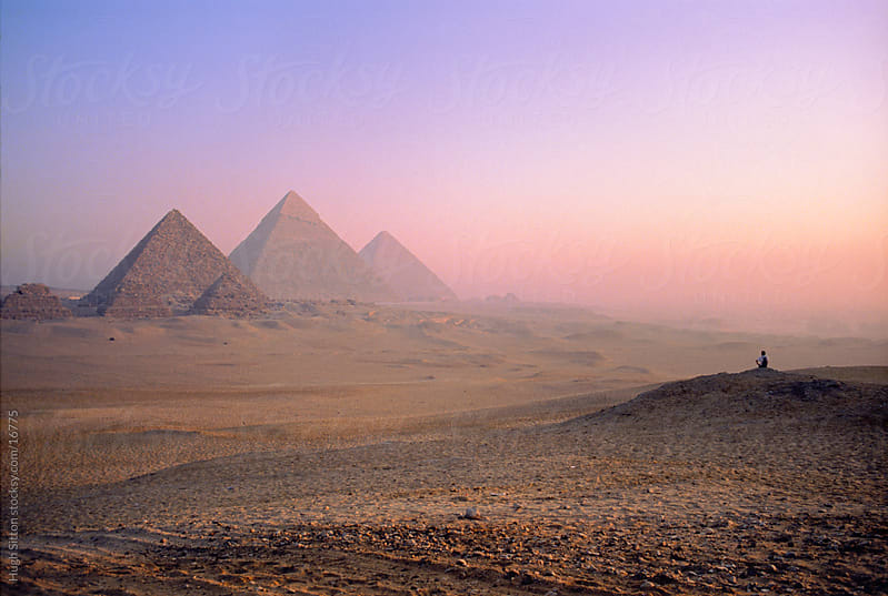 The Pyramids of Egypt. Giza. Egypt by Hugh Sitton for Stocksy United