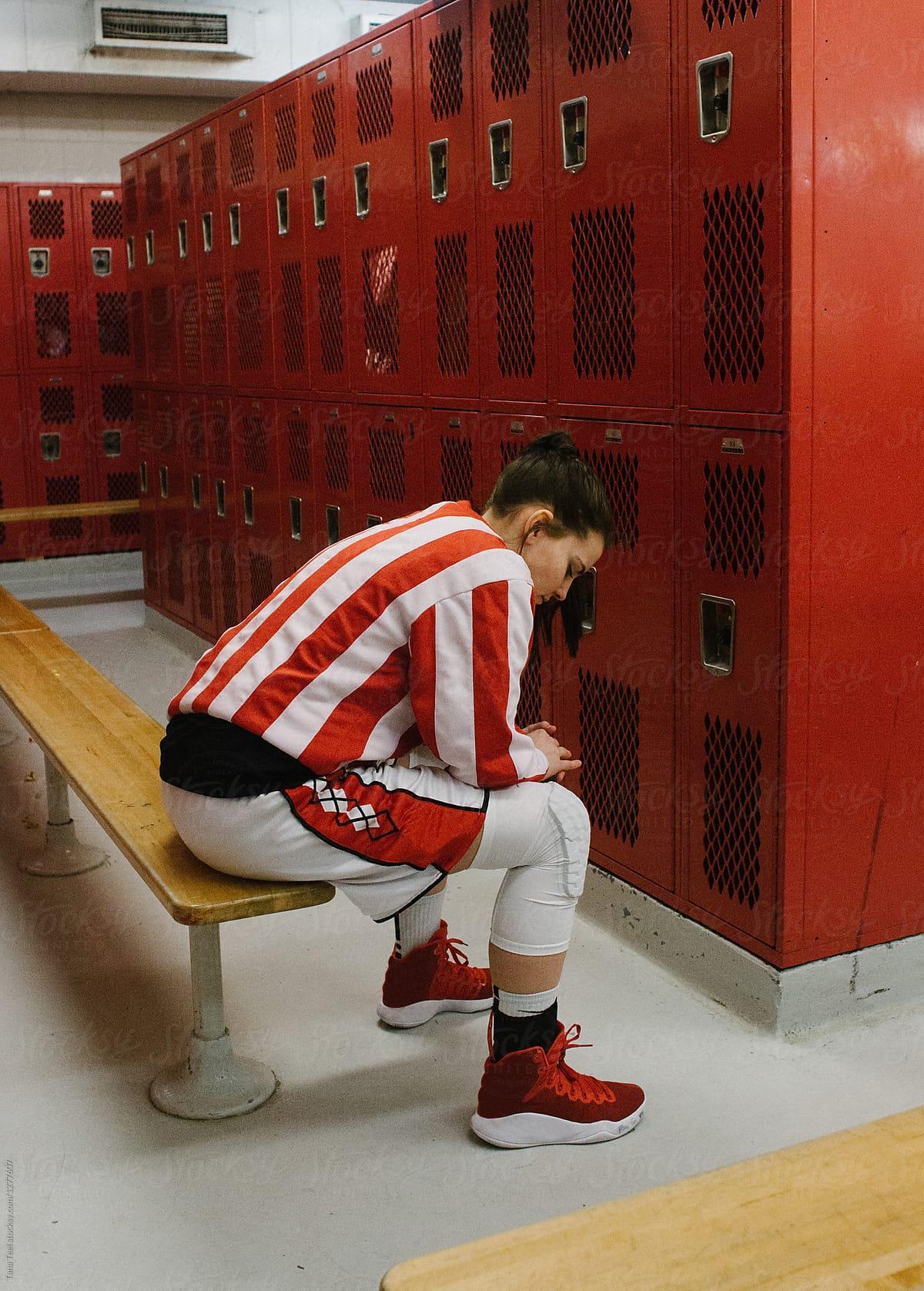 Image result for locker room sitting
