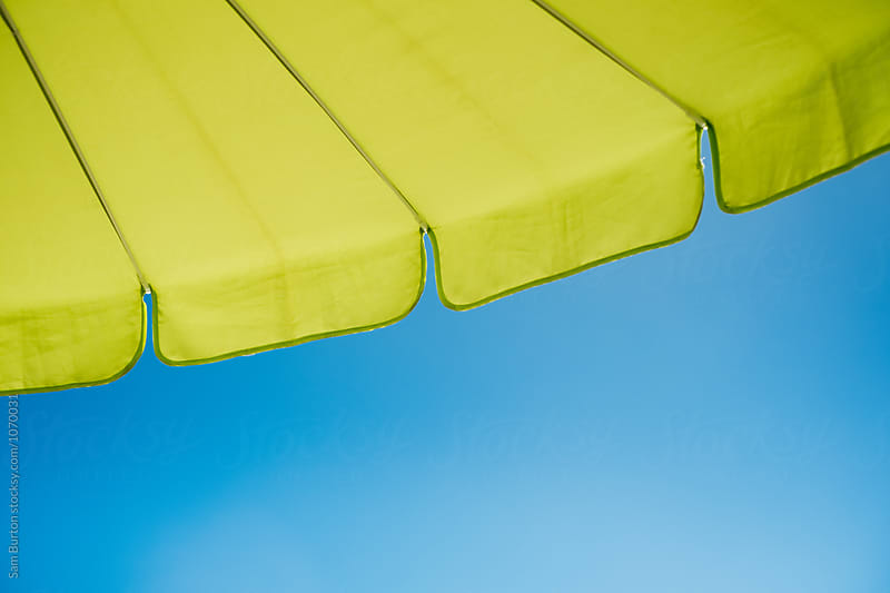 Beach umbrella by Sam Burton for Stocksy United