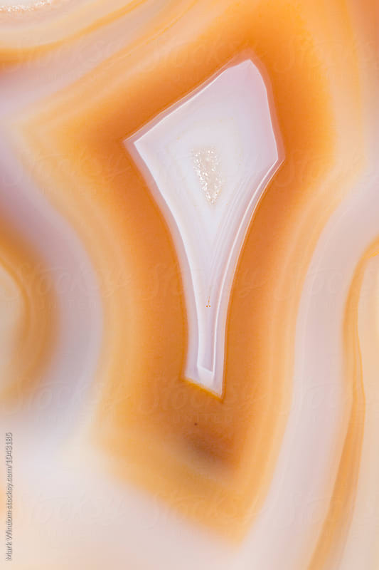 Agate mineral closeup by Mark Windom for Stocksy United