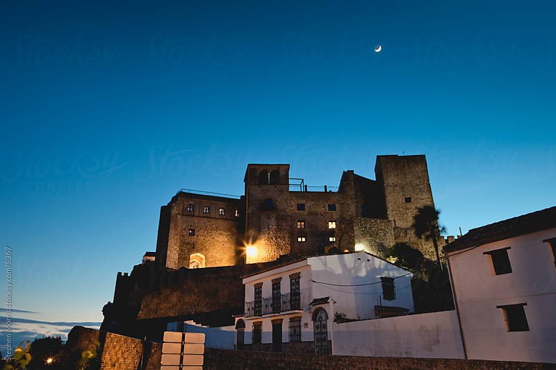Spanish Castle at Twilight by Stephen Morris for Stocksy United