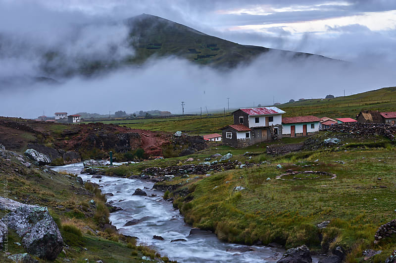 Beautiful view on village in Ausangate,Peru by Trent Lanz for Stocksy United