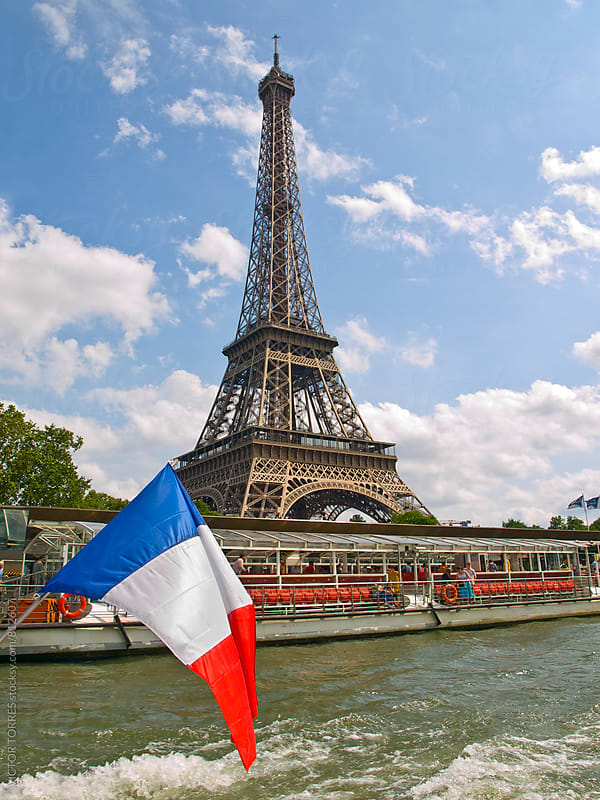 Eiffel Tower from the Cruise by VICTOR TORRES for Stocksy United