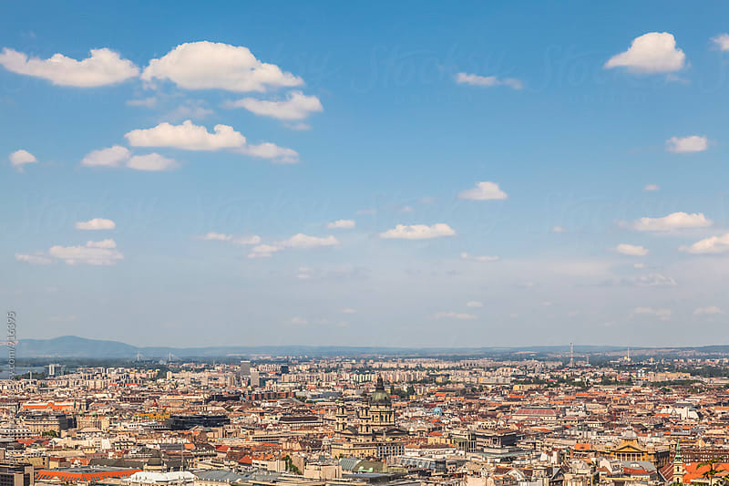 Budapest, Hungary - Panorama of the City with the Cathedral by Tom Uhlenberg for Stocksy United