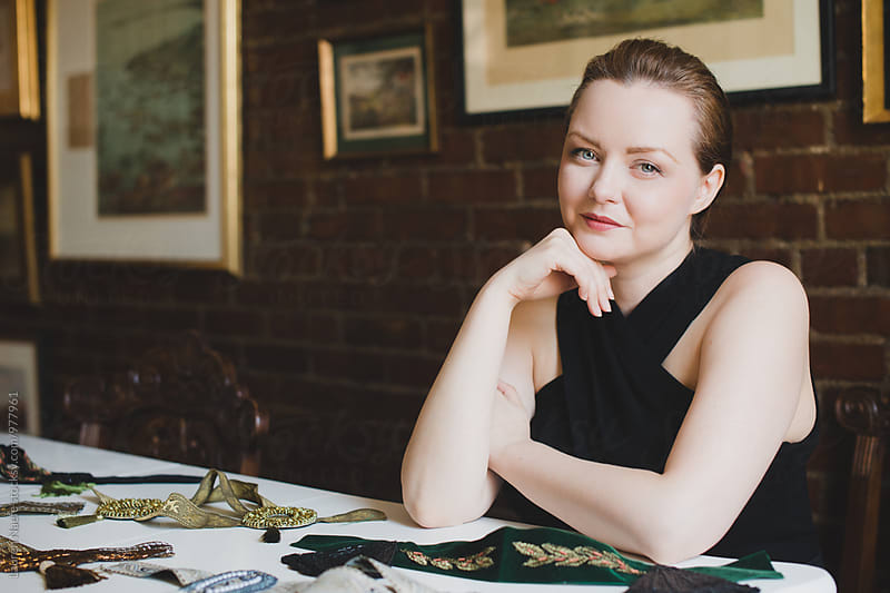 Portrait of designer in her studio by Lauren Naefe for Stocksy United