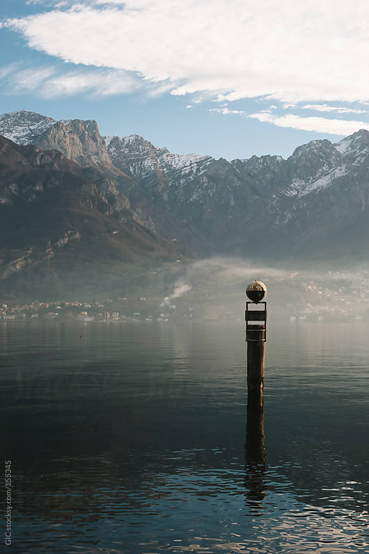 Pole on Lake Como by GIC for Stocksy United