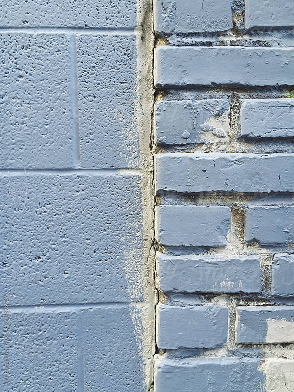 Detail of painted brick wall by Paul Edmondson for Stocksy United