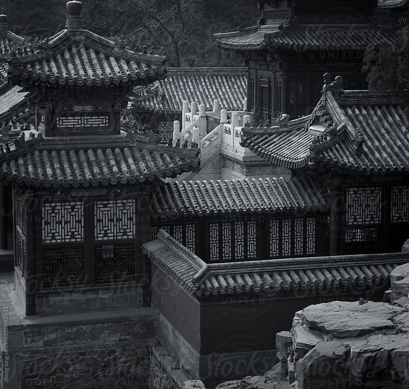 Chinese ancient architecture by zheng long for Stocksy United