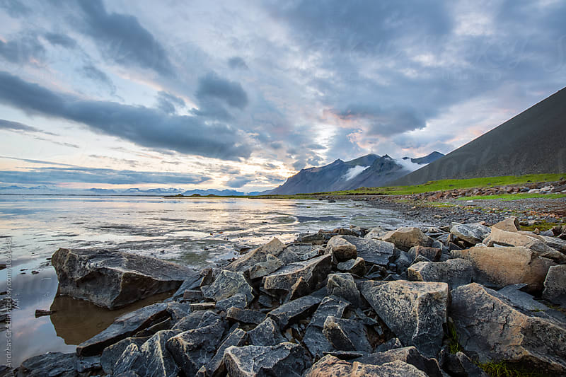 Iceland shoreline by Andreas Gradin for Stocksy United