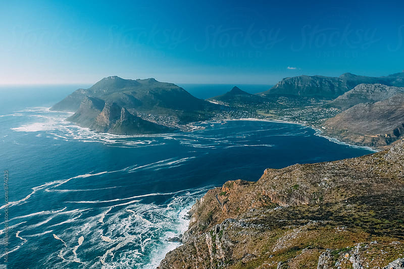 Landscape of Hout Bay in Cape Town by Micky Wiswedel for Stocksy United