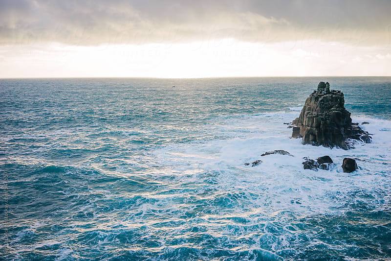Rocks at Land's End, Cornwall by Kirstin Mckee for Stocksy United