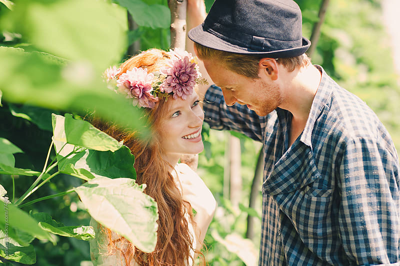 Ginger Couple in Love Outdoors by Lumina for Stocksy United