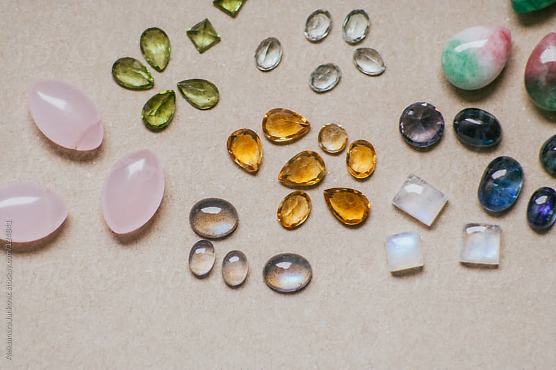 Different kinds of gemstones by Aleksandra Jankovic for Stocksy United