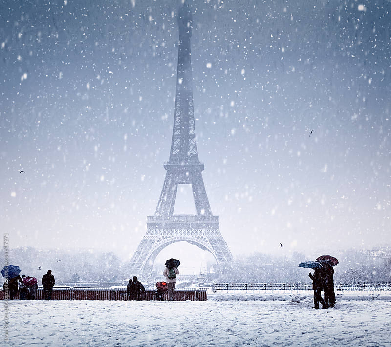 Snowstorm on Paris by Ivan Bastien for Stocksy United