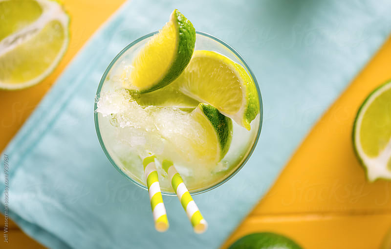 Refreshng Lime Cocktail  by Jeff Wasserman for Stocksy United