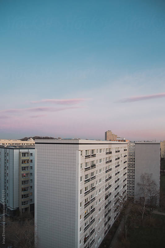 Winter sunset above Friedrichshain by Irina Efremova for Stocksy United