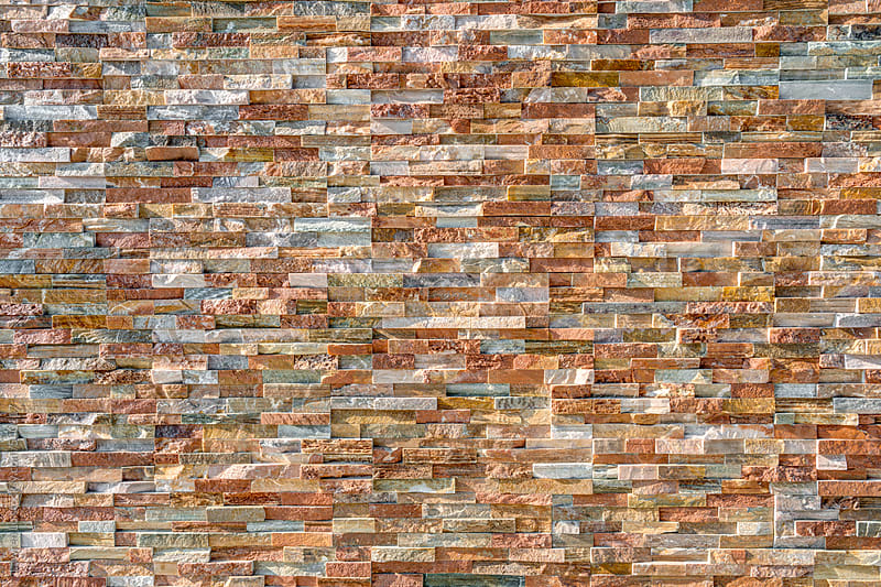 Stone wall stacked by slate by Lawren Lu for Stocksy United