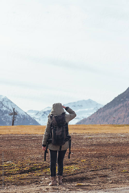 Woman exploring the alps by Giada Canu for Stocksy United