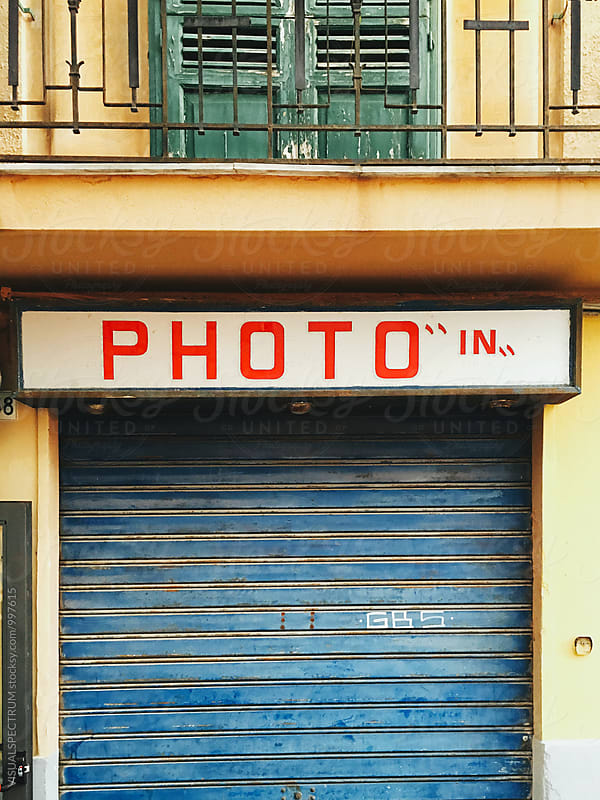 The Word Photo on Colorful Storefront by Julien L. Balmer for Stocksy United