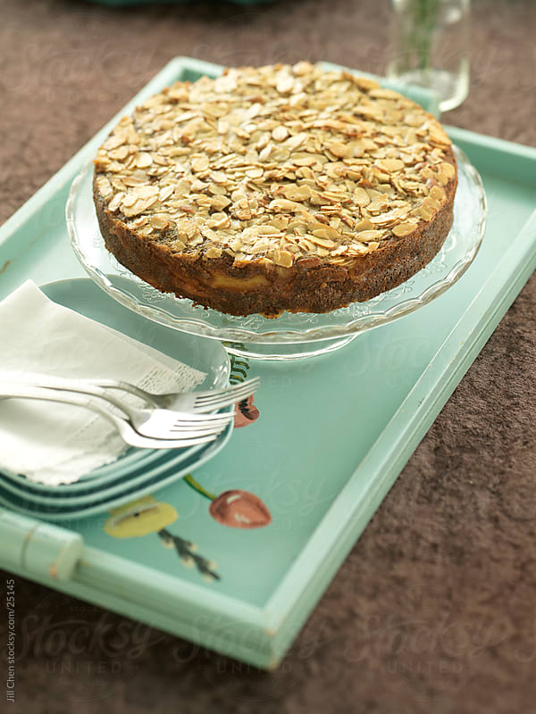 Apple Almond Cake by Jill Chen for Stocksy United